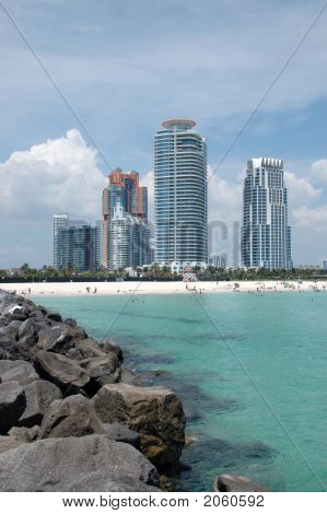 View Of South Beach From Jetty