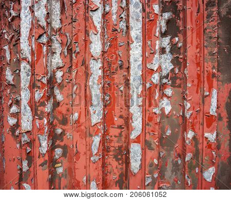 picture of a weathered rusty paint-coated metallic background