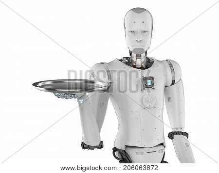 Robot Holding Serving Tray