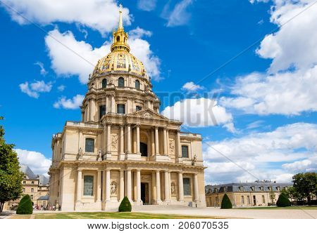 The church at Les Invalides in Paris, the location of Napoleon's tomb