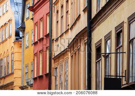 beautiful houses in old town, Stockholm