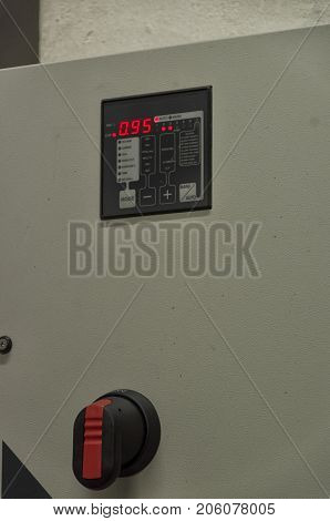 View of the display of a reactive power regulator