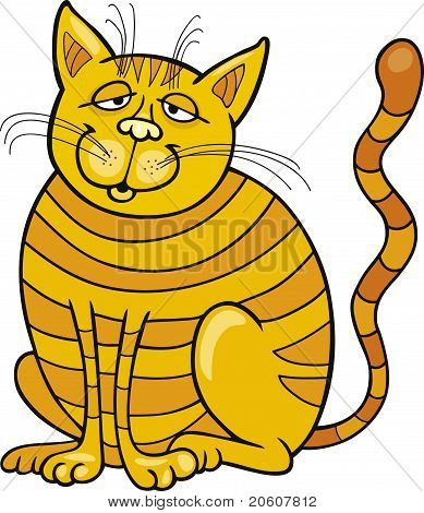 Cartoon vector illustration of Happy Yellow Cat poster
