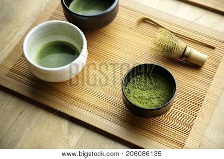 Japanese oriental matcha ceremony tradition