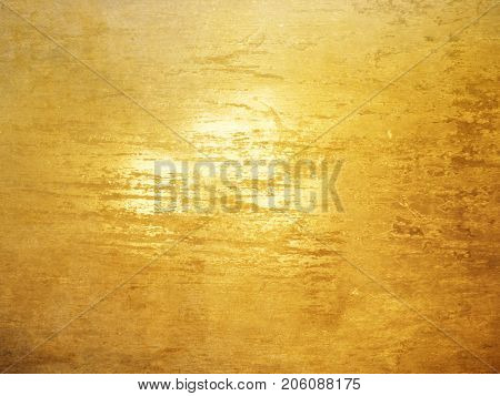 Gold background with brushed polished texture