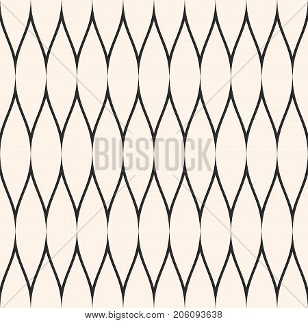 Mesh pattern. Vector seamless texture with thin wavy lines, fabric, fishnet, web, net, lace, delicate grid. Subtle monochrome background, simple repeat texture. Design for prints, textile, home decor. Seamless pattern.
