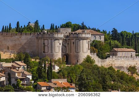 Fort Saint-Andre in Avignon - Provence France - travel and architecture background
