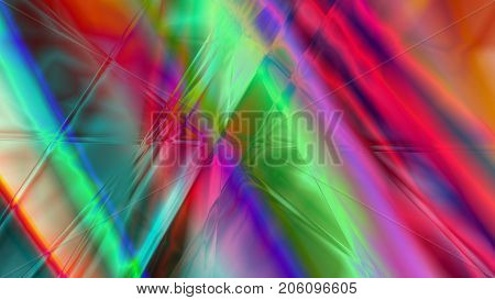 Colorful abstract prism background based on lines in 4K resolution.
