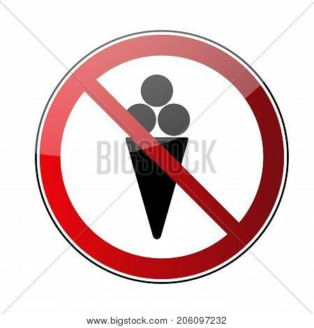 No Ice Cream Sign