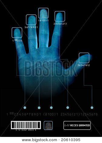 Electronic biometric fingerprint scanning