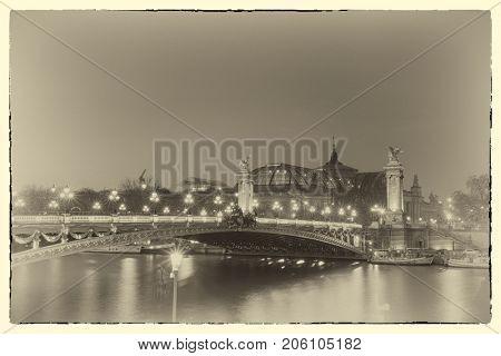 Bridge of the Alexandre III, Paris France - Intentional noise