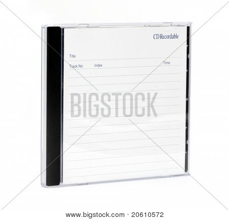 cd case isolated on a white background