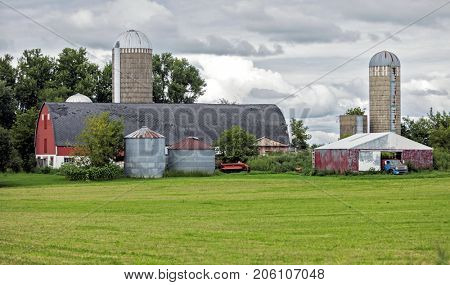 Typical generic old midwest farm