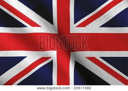 Satin British flag
