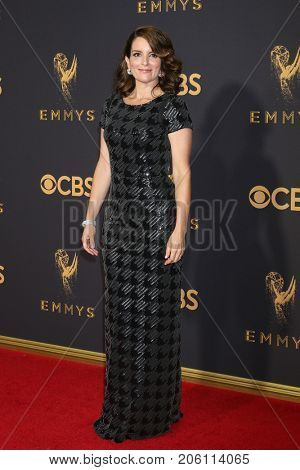 LOS ANGELES - SEP 17:  Tina Fey at the 69th Primetime Emmy Awards - Arrivals at the Microsoft Theater on September 17, 2017 in Los Angeles, CA