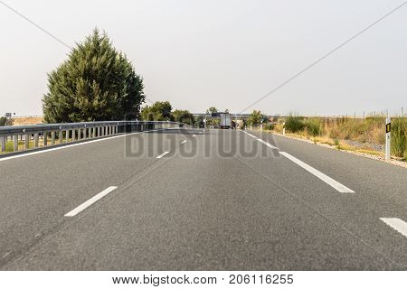 view of the motorway from the car