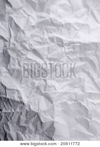 texture of white rumpled paper