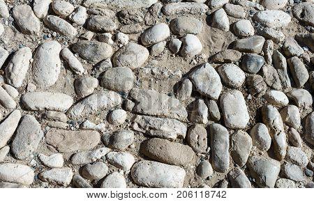 texture of paving stone masonry, close up