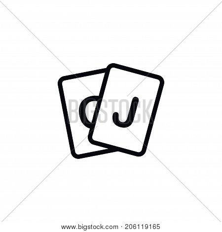 Deck Vector Element Can Be Used For Game, Deck, Poker Design Concept.  Isolated Game Icon.