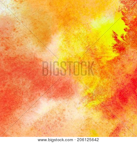Yellow orange abstract watercolor texture