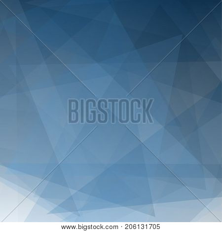 Abstract blue gradient perspective geometric shapes overlap Vector illustration