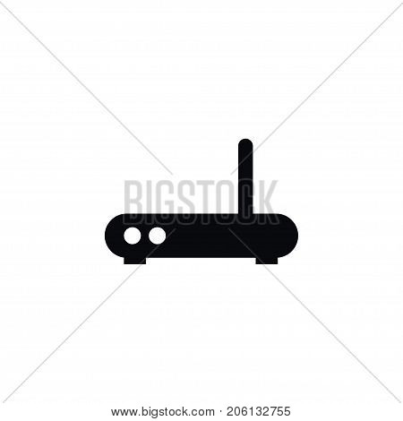 Broadband Vector Element Can Be Used For Broadband, Antenna, Modemwifi Design Concept.  Isolated Antenna Icon.