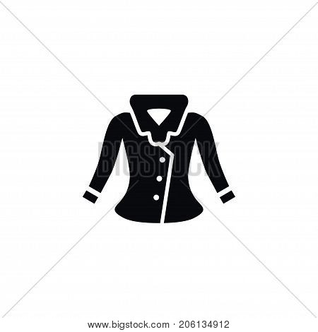 Sweater Vector Element Can Be Used For Dress, Jacket, Outwear Design Concept.  Isolated Jacket Icon.