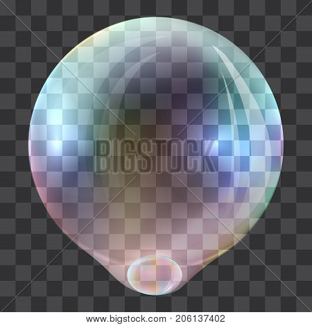 Create soap bubble concept background. Realistic illustration of create soap bubble vector concept background for web design