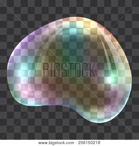 Oval rainbow bubble concept background. Realistic illustration of oval rainbow bubble vector concept background for web design