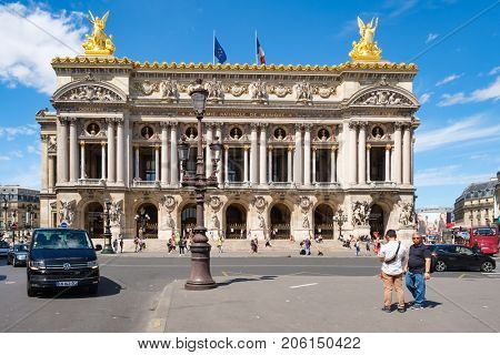 PARIS,FRANCE - AUGUST 3,2017 : The Paris Opera or Palais Garnier in central Paris