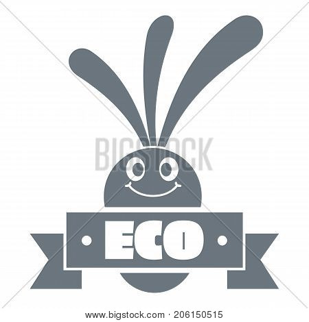 Eco eggplant logo. Simple illustration of eco eggplant vector logo for web