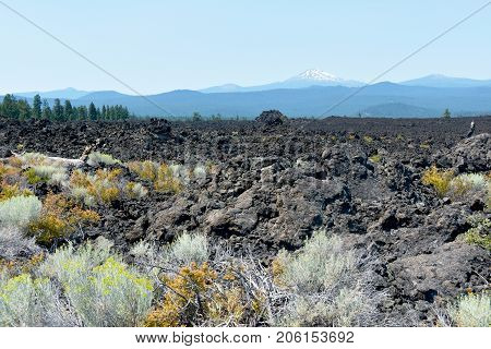 Picture of the volcanic area at Lava Butte (Newberry National Volcanic Monument) near Bend, Oregon, USA.
