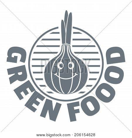 Onion logo. Simple illustration of onion vector logo for web