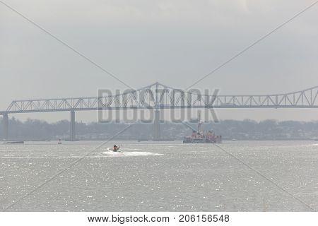 Outerbridge Crossing From Sewaren New Jersey
