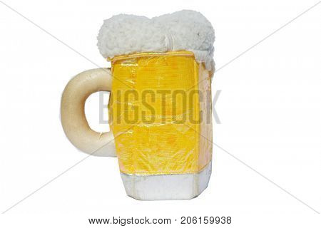 beer mug purse, isolated on white. room for text.