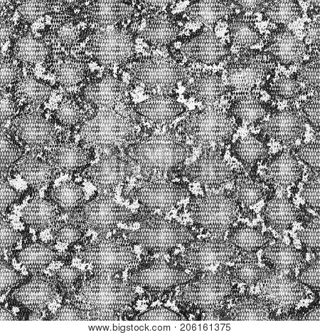 Grunge Black And White Reptile Background