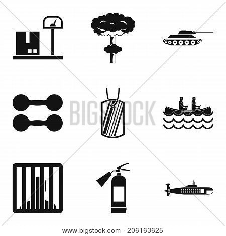Bellicose icons set. Simple set of 9 bellicose vector icons for web isolated on white background