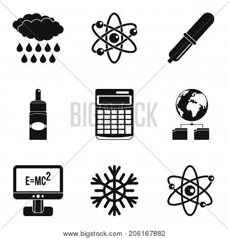 Physical phenomenon icons set. Simple set of 9 physical phenomenon vector icons for web isolated on white background