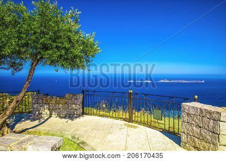 Isola Serpentara island near Costa Rei and Porto Giunco on Sardinia island Italy Europe. Sardinia is the second largest island in the Mediterranean Sea.