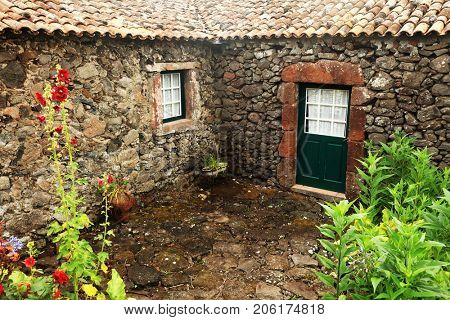 Traditional village on Flores Island, Azores, Portugal, Europe