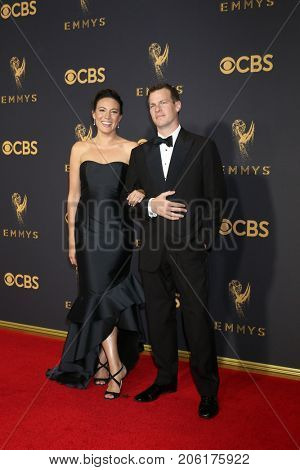 LOS ANGELES - SEP 17:  Lisa Joy, Jonathan Nolan at the 69th Primetime Emmy Awards - Arrivals at the Microsoft Theater on September 17, 2017 in Los Angeles, CA