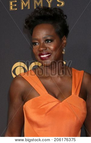 LOS ANGELES - SEP 17:  Viola Davis at the 69th Primetime Emmy Awards - Arrivals at the Microsoft Theater on September 17, 2017 in Los Angeles, CA