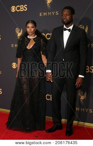LOS ANGELES - SEP 17:  Gabrielle Union, Dwyane Wade at the 69th Primetime Emmy Awards - Arrivals at the Microsoft Theater on September 17, 2017 in Los Angeles, CA