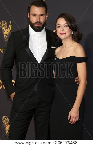 LOS ANGELES - SEP 17:  Tom Cullen, Tatiana Maslany at the 69th Primetime Emmy Awards - Arrivals at the Microsoft Theater on September 17, 2017 in Los Angeles, CA