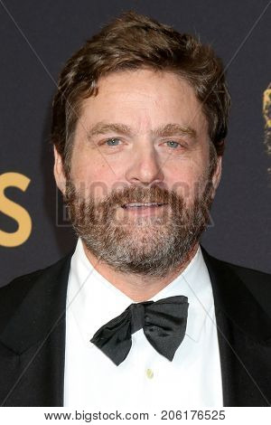 LOS ANGELES - SEP 17:  Zach Galifianakis at the 69th Primetime Emmy Awards - Arrivals at the Microsoft Theater on September 17, 2017 in Los Angeles, CA