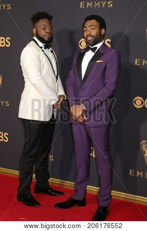 LOS ANGELES - SEP 17:  Guest, Donald Glover at the 69th Primetime Emmy Awards - Arrivals at the Microsoft Theater on September 17, 2017 in Los Angeles, CA
