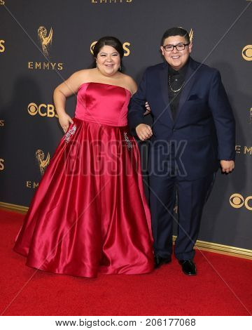 LOS ANGELES - SEP 17:  Raini Rodriguez, Rico Rodriguez at the 69th Primetime Emmy Awards - Arrivals at the Microsoft Theater on September 17, 2017 in Los Angeles, CA