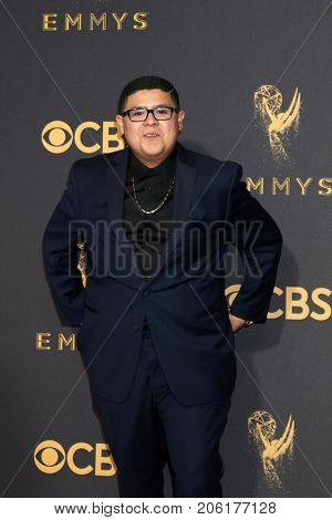 LOS ANGELES - SEP 17:  Rico Rodriguez at the 69th Primetime Emmy Awards - Arrivals at the Microsoft Theater on September 17, 2017 in Los Angeles, CA