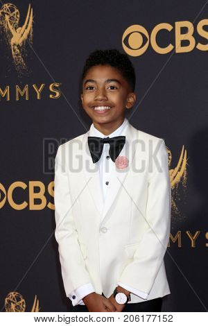 LOS ANGELES - SEP 17:  Miles Brown at the 69th Primetime Emmy Awards - Arrivals at the Microsoft Theater on September 17, 2017 in Los Angeles, CA