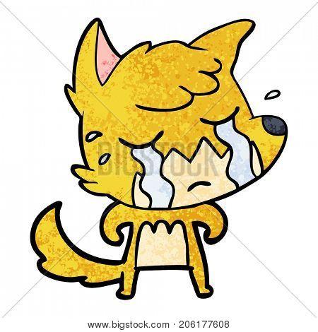 crying fox cartoon
